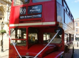 Classic Routemaster Bus for wedding hire in Towcester